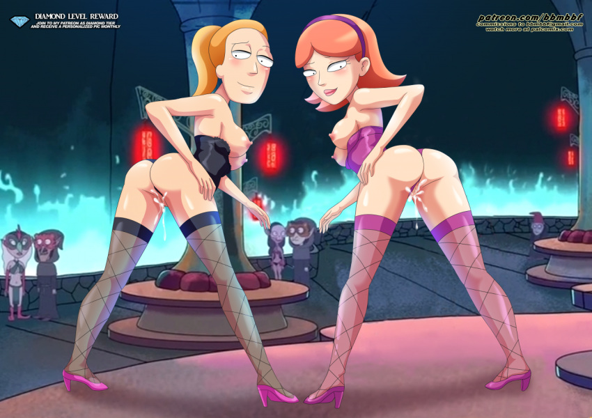 jessica morty and naked rick Highschool of the dead porn pics