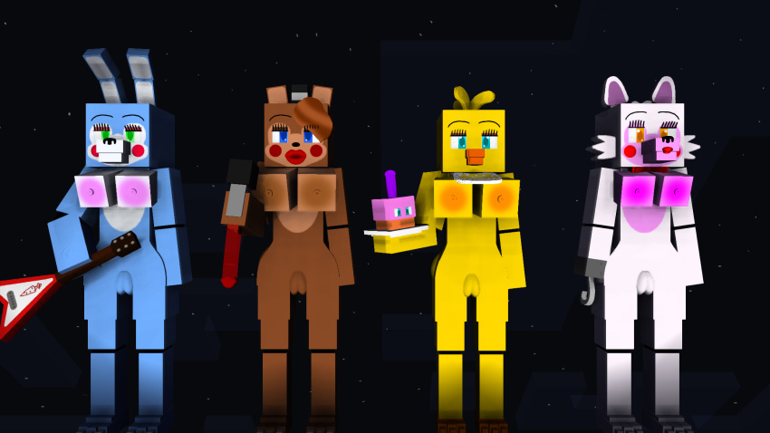 bonnie toy vs toy chica Better late than never e621